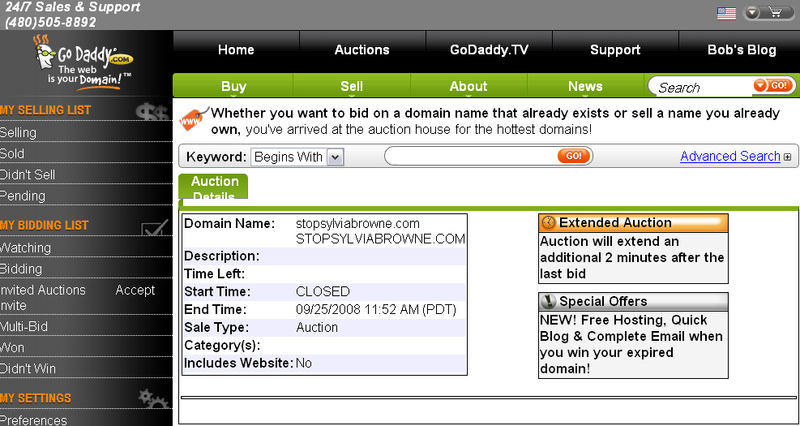 Go Daddy Auctions